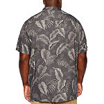 The Foundry Big & Tall Supply Co. Big and Tall Mens Short Sleeve Button-Front Shirt