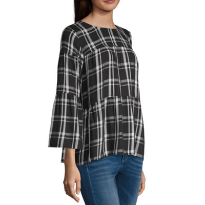 a.n.a 3/4th  Sleeve Round Neck Woven Blouse