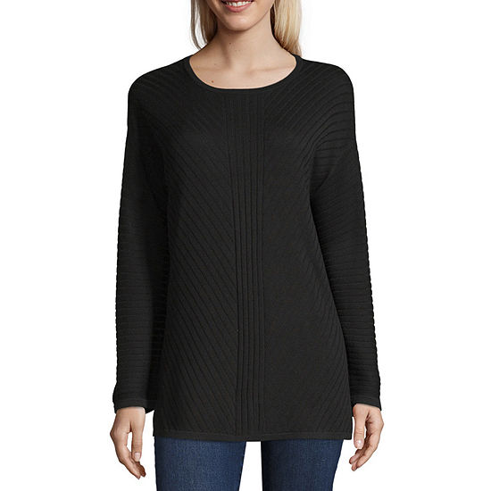 Liz Claiborne Long Sleeve Scoop Neck Pullover Sweater Jcpenney