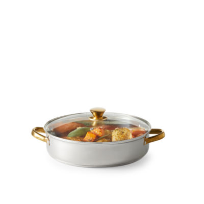 Cooks 5-qt. Stainless Steel Everything Pan with Gold Finish Handles