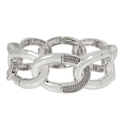 Worthington Silver Tone Bangle Bracelet