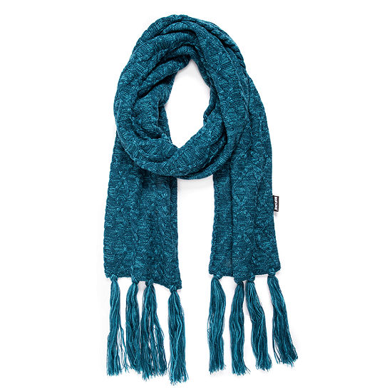 Muk Luks Womens Traditional Tassel Cold Weather Scarf