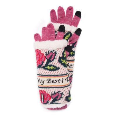 Muk Luks Womens 3in1 Diamond Cold Weather Gloves