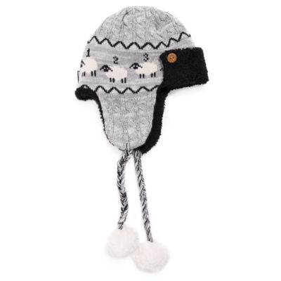 Muk Luks Women's Faux Fur Trim Trapper Hat
