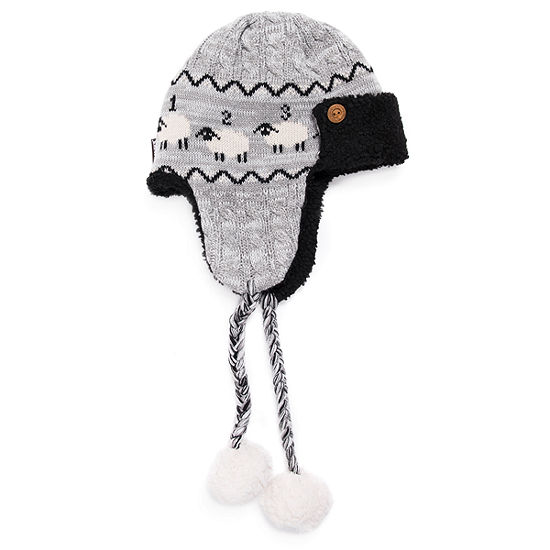 Muk Luks Women's Faux Fur Trim Trapper Hat