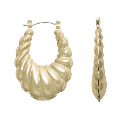 Bold Elements 40mm Hoop Earrings