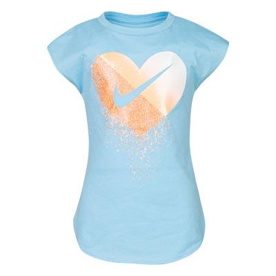 Nike Girls Crew Neck Short Sleeve Graphic T-Shirt-Preschool