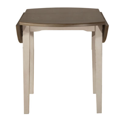Hillsdale House Clarion Round Wood-Top Dining Table