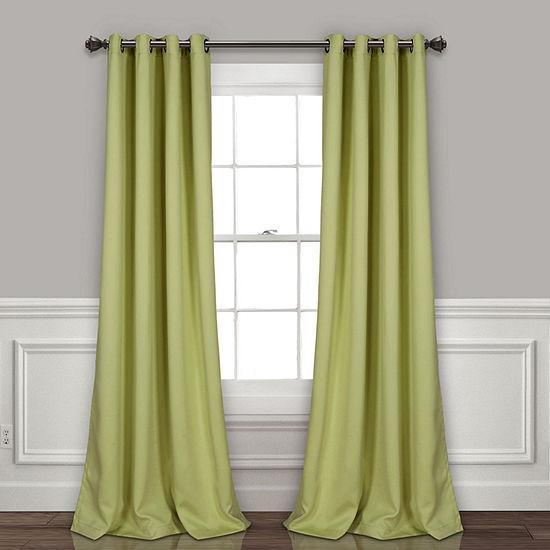 Lush Décor Insulated Grommet Blackout Curtain Panels Set