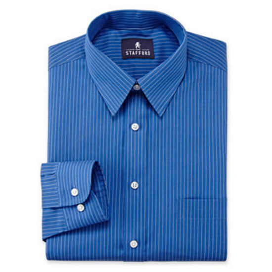 Stafford Super Shirt Dress Shirt Big and Tall with Comfort Stretch, Stain Repel and Wrinkle Free