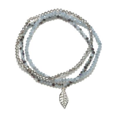 Mixit Delicates Silver Tone Beaded Bracelet