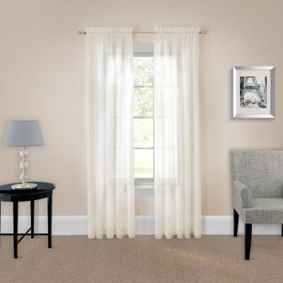 Pairs To Go Victoria Voile 2-Pack Rod-Pocket Curtain Panel