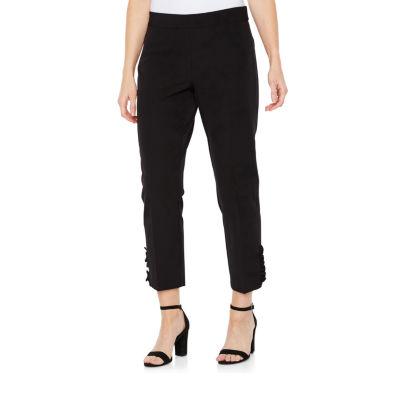 Worthington Modern Fit Pearl Trim Ankle Pants
