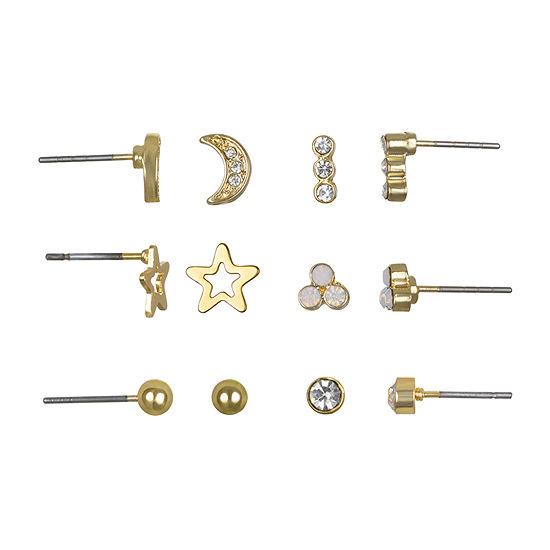 Mixit 6 Pair Star Earring Set