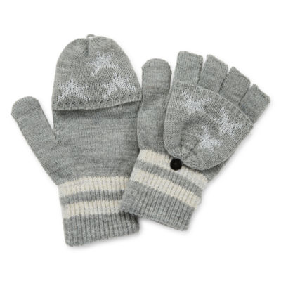 Mixit Novelty Pop-Over Leopard Cold Weather Gloves