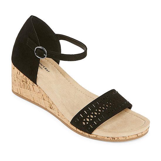 St. John's Bay Womens Mackey Wedge Sandals