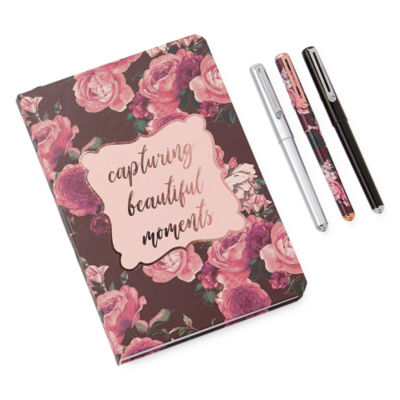 Mixit Burgundy Floral 4-pc. Stationary Sets