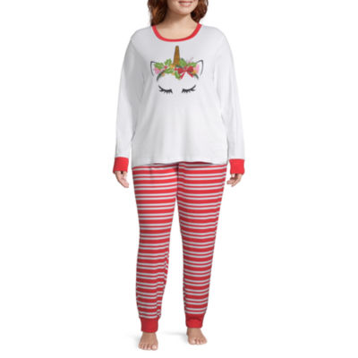 Mommy And Me Womens-Plus Pant Pajama Set 2-pc. Long Sleeve