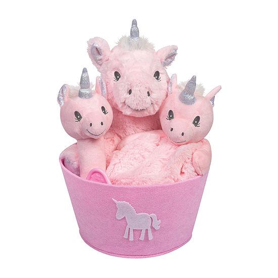 Trend Lab Unicorn Baby Girls 4-pc. Baby Gift Set