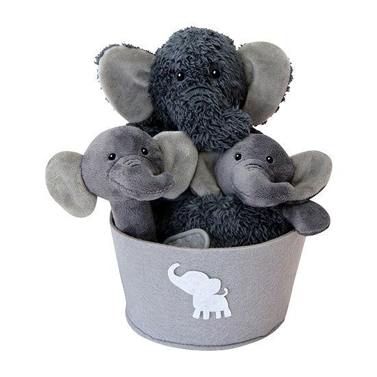 Trend Lab Elephant Baby Unisex 4-pc. Baby Gift Set