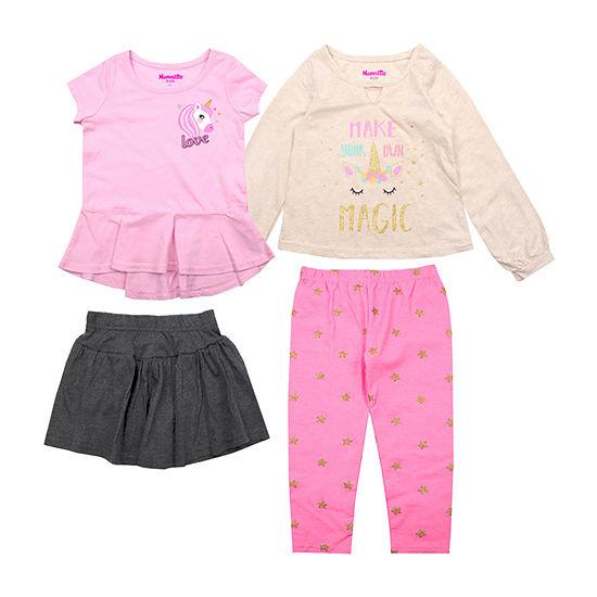 Nanette Baby 4-pc. Legging Set-Toddler Girls