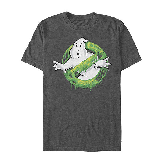 No Ghosts Allowed  Slime Logo Mens Crew Neck Short Sleeve Ghostbusters Graphic T-Shirt