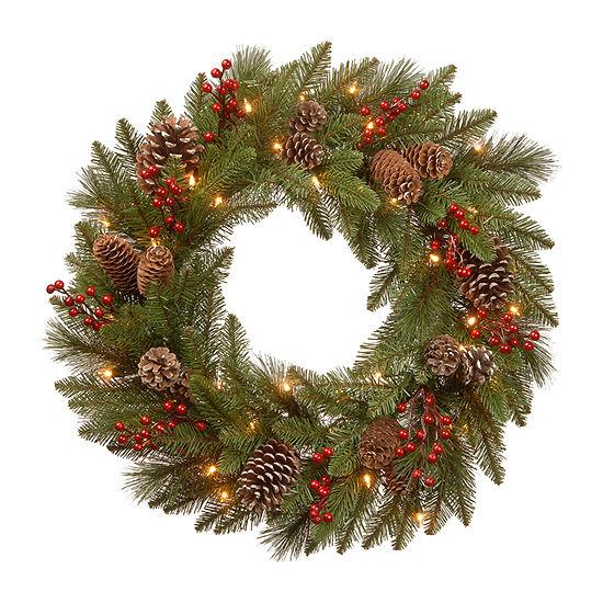 National Tree Co. Bristle Berry Wreath