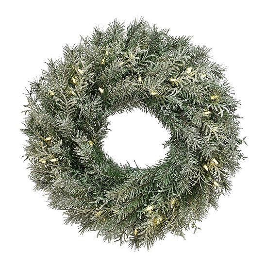 National Tree Co. Snowy Stonington Wreath