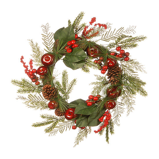 National Tree Co. Apple And Pine Cone Wreath