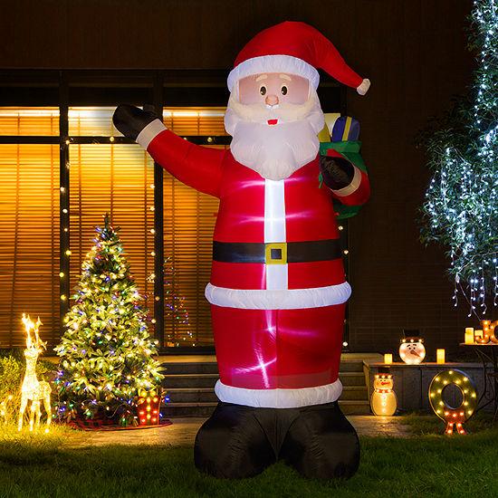 Glitzhome Waving Santa Inflatables