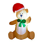 Glitzhome Lighted Little Bear Inflatables
