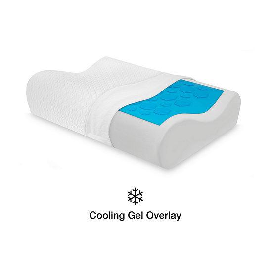 SensorPEDIC Gel Overlay Memory Foam Contour Pillow