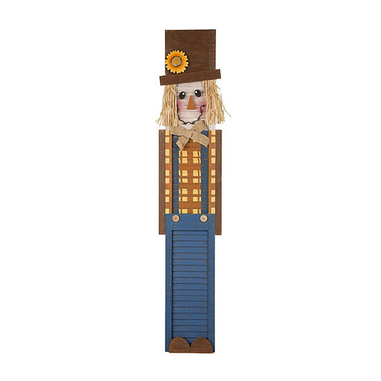 Glitzhome Wooden Scarecrow Wall Sign
