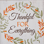 Glitzhome Wooden Thanksgiving Word Wall Sign