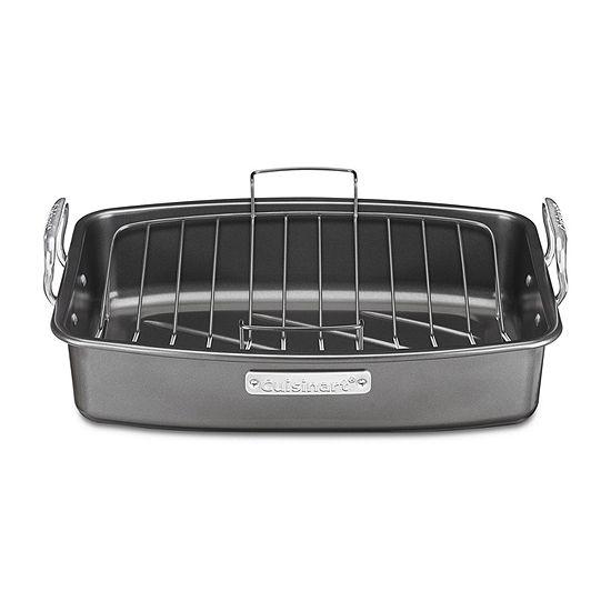 """Cuisinart® Ovenware 17x13"""" Nonstick Roaster with Rack"""