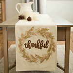 Glitzhome Embroidered Thanksgiving Table Runner