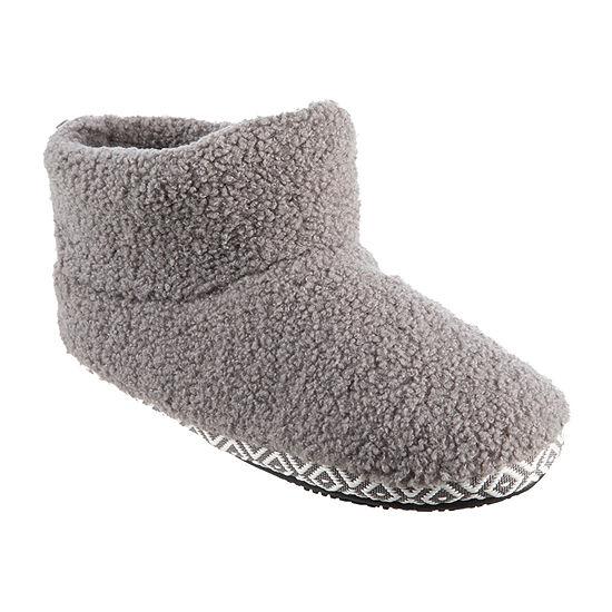 Isotoner Berber Womens Bootie Slippers