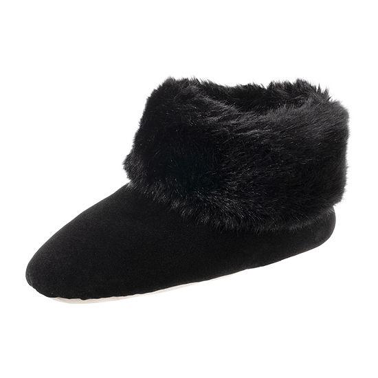 Isotoner Velour Bootie Slippers