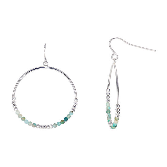 Footnotes Amazonite Round Hoop Earrings
