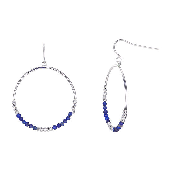 Footnotes Lapis Round Hoop Earrings