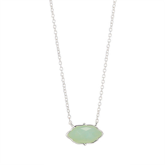 Footnotes Green Amazonite 16 Inch Link Pendant Necklace