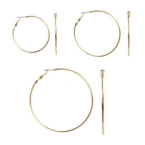Bold Elements 3 Pair Earring Set