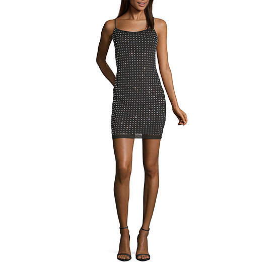 B. Smart Sleeveless Applique Bodycon-Juniors