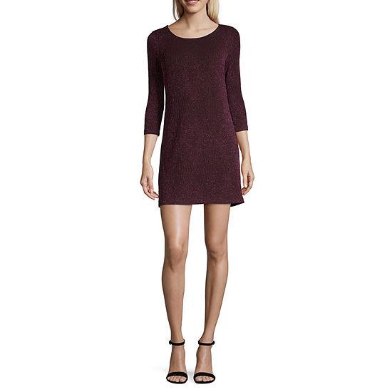Trixxi-Juniors 3/4 Sleeve Dress Set