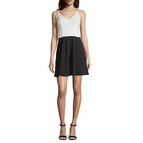Speechless Sleeveless Fit & Flare Dress - Juniors