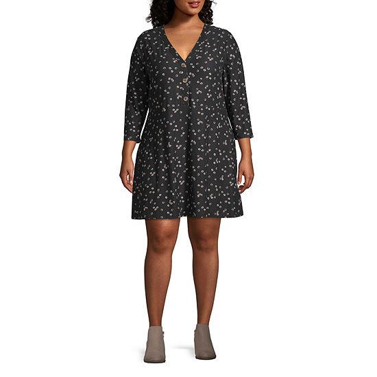 Arizona Long Sleeve Dress Set-Juniors Plus