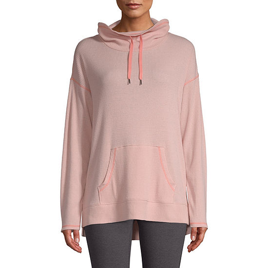 St. John's Bay Active Knit Hooded Midweight Track Jacket-Tall