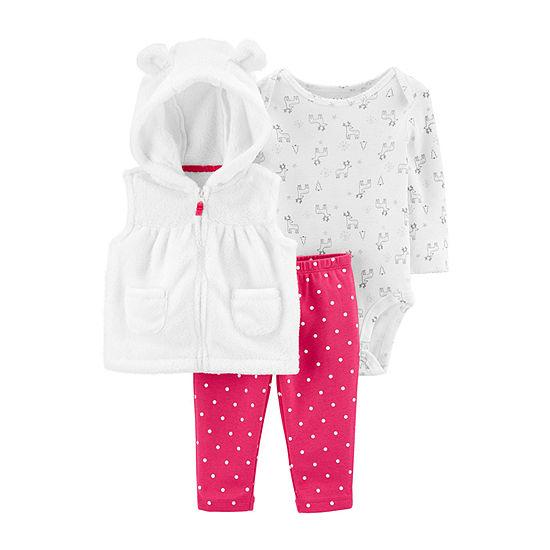 Carter's Girls 3-pc. Bodysuit Set-Baby
