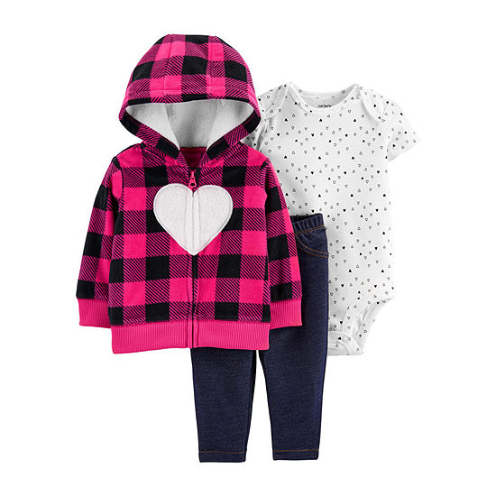 Carter's Girls 3-pc. Bodysuit Set-Baby
