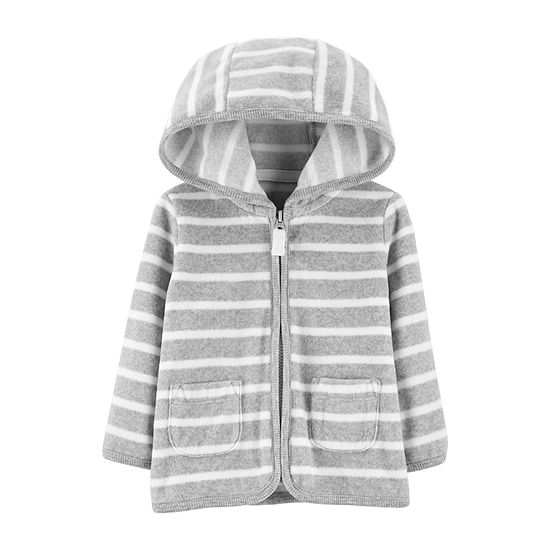 Carter's Unisex Hooded Neck Long Sleeve Striped Cardigan Baby